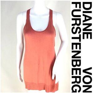 Diane Von Furstenberg SilkCashmere Racer Tank EUC!